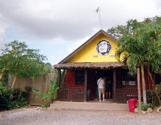 Photo of the Bob Marley gift store goes here.