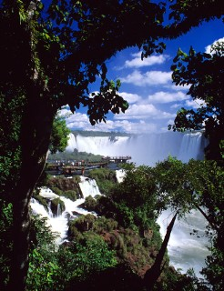Photo of Iguazu Falls goes here.