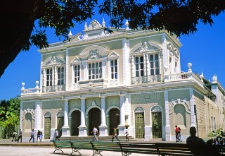 Photo of the Jose Alencar Theater at Fortaleza goes here.