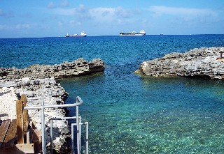 Photo of mineral spring area on the west coast of Grand Bahama Island goes here.