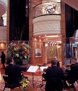 Photo of chamber music being played in the QM2 Centrum goes here.