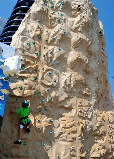 Photo of rock climbing wall goes here.*