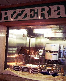 Photo of pizza bar goes here.