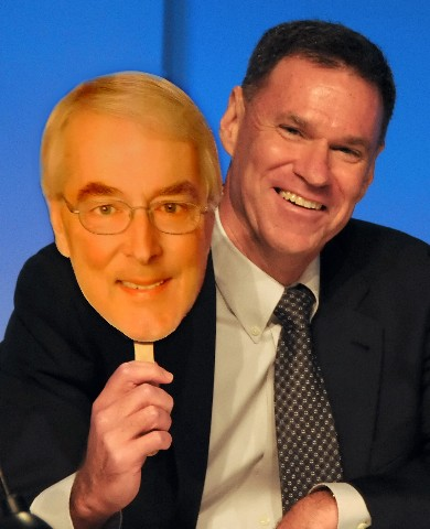 Photo of Gerry Cahill with Bob Dickinson mask goes here.