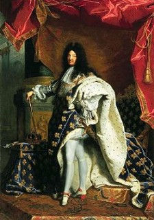 Painting of King Louis XIV goes here.