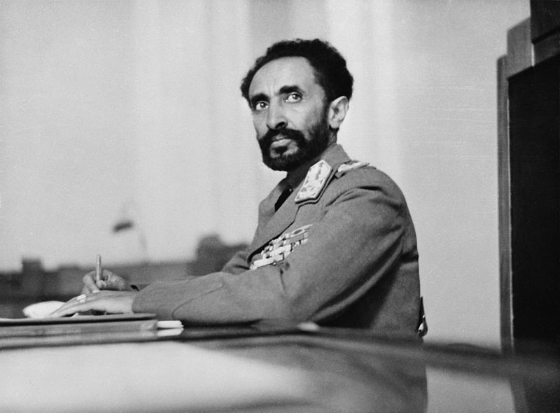 Photo of Haile Selassie goes here.