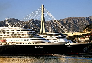Photo of Prinsendam in Dubrovnik shown here.