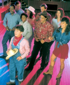 Photo of line dancing onboard Princess Cruises.
