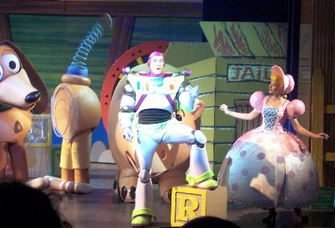 Photo of Buzz and Bo Peep goes here.