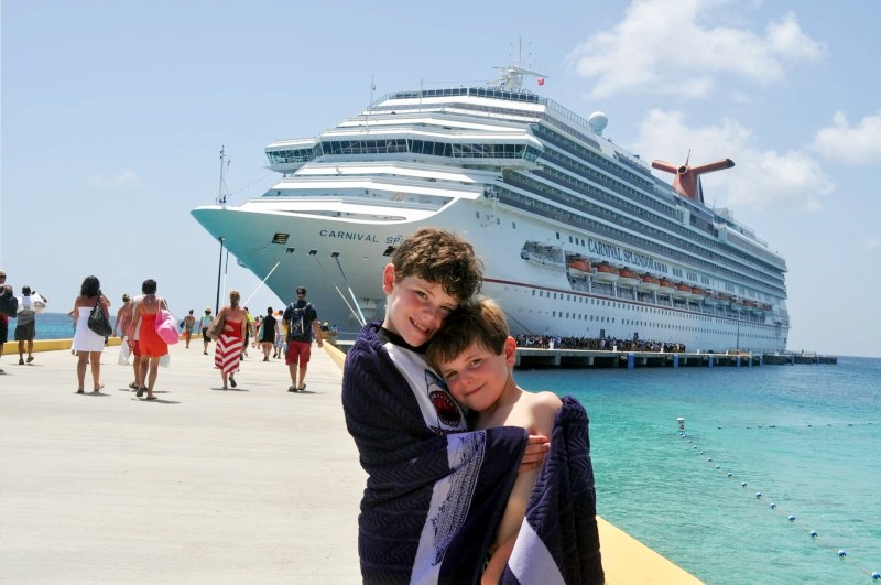 Photo of Jack and Casey Dinnigan with Carnival Splendor goes here.