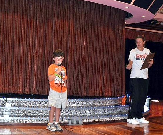 Photo of Jack Dinnigan at a family program onboard Carnival Splendor.*