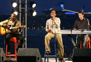 Photo of Jon Secada at CocoCay concert goes here.