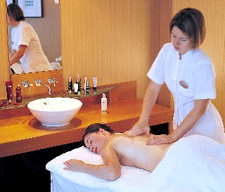 Photo of spa massage goes here.