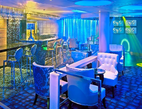 Photo of glitzy new lounge on Crystal Cruises goes here.