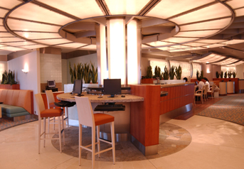Photo of Diamond Princess' Internet Cafe goes here. Photo used courtesy of Princess Cruises.