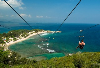 Photo of Zip Line at Labadee goes here.
