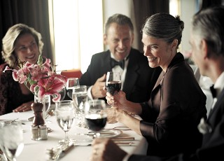 Photo of fine dining on Holland America goes here.