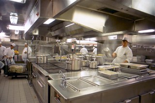 Photo of the galley of Island Princess goes here.