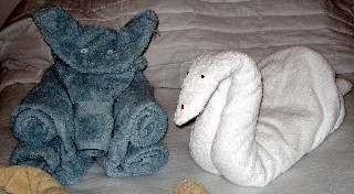 Photo of towel art goes here.
