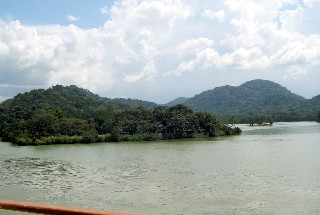 Photo of Gatun Lake and its many islands goes here.