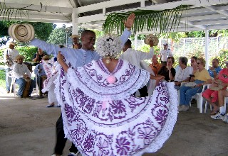 Photo of Panamanian dancers goes here.