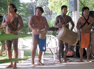 Photo of Indian group performing at the Gatun Yacht Club.