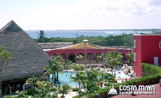 Photo of Costa Maya visitors complex goes here.