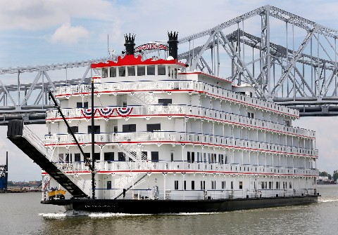 Photo of Queen of the Mississippi on the Mississippi River in New Orleans goes here.*