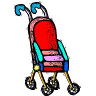 Drawing of stroller goes here.