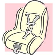 Drawing of car seat goes here.