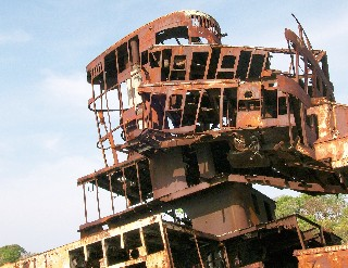 Photo of the structure of a shipwreck goes here.