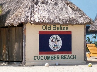 Photo of Cucumber Beach, Belize, goes here.