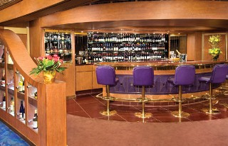 Photo of Holland America wine bar goes here.