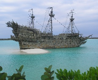 Photo of the Flying Dutchman at Castaway Cay goes here.