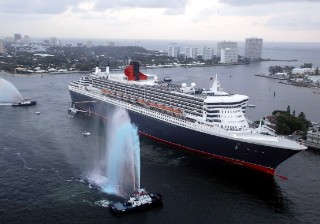Photo of QM2 at Port Everglades goes here.