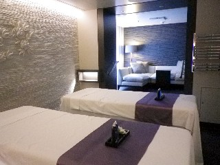 Photo of a Couple's Villa in the Spa onboard Royal Princess is shown here.*