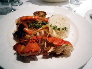 "Photo of Lobster ""twin tail"" dinner on Royal Princess goes here.*"