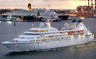 Photo of Seabourn ship goes here.
