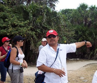 Photo of guide at Tulum goes here.
