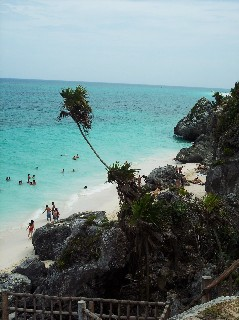 Photo of Tulum's cliffside locale goes here.