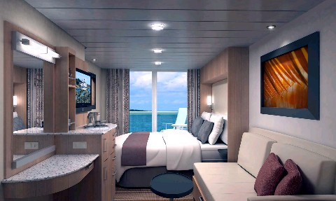 Photo of a Celebrity Solstice verandah stateroom goes here.