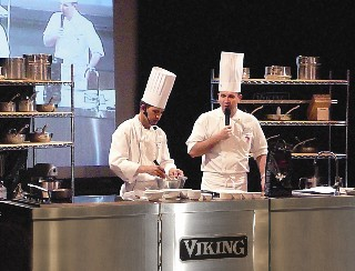 Photo of Viking Range cooking demonstration goes here.