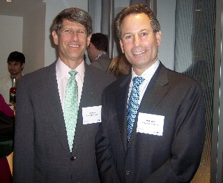 Photo of Jeff and Brad Tolkin from World Travel Holdings; they attended Celebrity's announcement event.