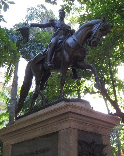 Photo of Bolivar statue goes here.
