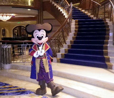 Photo of Mickey in a pirate outfit goes here.