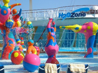 Photo of H20 Zone fountains goes here.