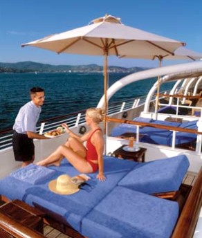 Photo of SeaDream Cabana Beds goes here.