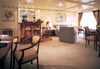 Photo of Silver Shadow's Grand Suite goes here.