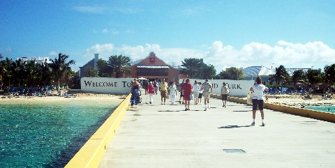 Photo of pier to Grand Turk goes here.