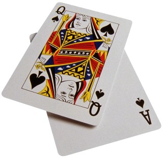 Photo of casino playing cards goes here.